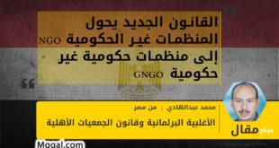 القانون الجديد يحول المنظمات غير الحكومية NGO إلى منظمات حكومية غير حكومية GNGO في مصر