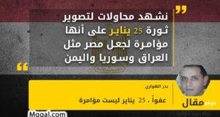نشهد محاولات لتصوير ثورة 25 يناير على أنها مؤامرة لجعل مصر مثل العراق وسوريا واليمن