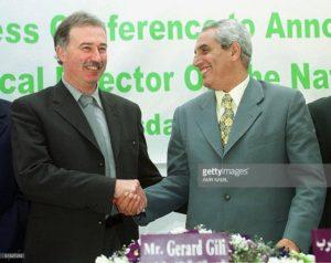 المدرب جيرار جيلي - منخب مصر عام 2000