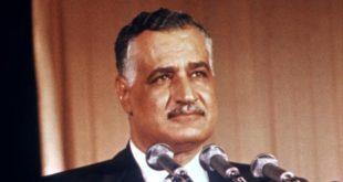 الرئيس جمال عبدالناصر في مؤتمر صحفي في مصر