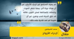 ازدراء الأرواح بقلم: محمد الشرقاوي