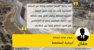 ايجابية المقاطعة بقلم: مروان محمد ابوفارة
