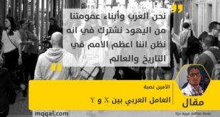 العامل العربي بين X و Y