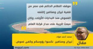 تيران وصنافير.. نكسوا رؤوسكم وكفى غموض..! بقلم: محمد أحمد فؤاد