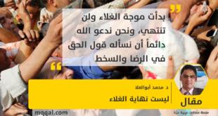 ليست نهاية الغلاء بقلم: د. محمد أبوالعلا