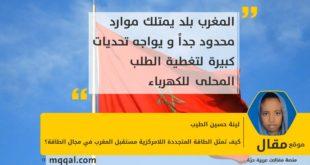 كيف تمثل الطاقة المتجددة اللامركزية مستقبل المغرب في مجال الطاقة؟ بقلم: لينة حسين الطيب