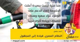 النظام المصرى: قيادة إلى المجهول بقلم: أحمد عثمان