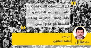 ثقافة القانون بقلم: علي عباس