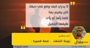زوجة الشقاء .. ( قصة قصيرة ) بقلم: أحمد باحمّادي