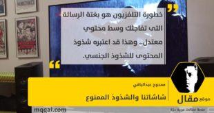 شاشاتنا والشذوذ الممنوع بقلم: ممدوح عبدالباقي