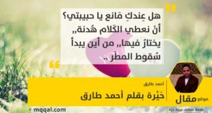 حَيْرة بقلم: أحمد طارق