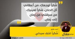 : شُكراً لحُبكِ سيدتي .. بقلم: أحمد طارق