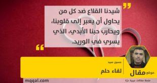 : لقاء حلم بقلم: حسين سيد