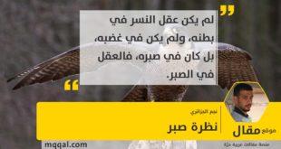 : نظرة صبر بقلم: نجم الجزائري