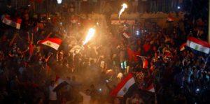 فرحة جنونية للمصريين بعد التأهل لمونديال روسيا ٢٠١٨