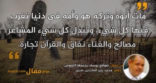 صوامع يوسف يحميها اللصوص|| بقلم: محمد زين العابدين صبرى|| موقع مقال