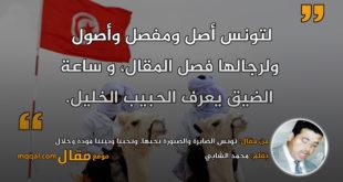 تونس الصابرة والصبورة نحبها، وتحبنا وبيننا مودة وخلال|| بقلم: محمد الشابي|| موقع مقال