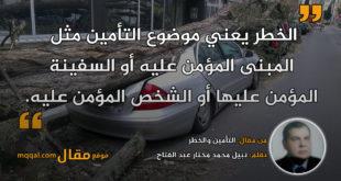 التأمين والخطر|| بقلم: نبيل محمد مختار عبد الفتاح|| موقع مقال
