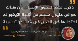 ما تعرفه عن أقلية الإيغور المسلمة المضطهدة فى الصين ؟|| بقلم: حنان حميدو|| موقع مقال
