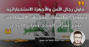 بوابة الثورة الاعتصامات المفتوحة|| بقلم: محمد شريف شناوة عبد لطيف|| موقع مقال