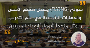 نموذج (FLYING). بقلم: نجاة بنت علي الأخضر || موقع مقال