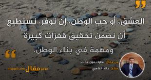 نظرة بعين محب. بقلم: خالد الناهي || موقع مقال