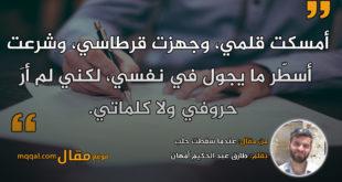 عندما سقطت حلب. بقلم: طارق عبد الحكيم أمهان || موقع مقال