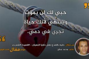 خلية بالصدغ تقتل خلايا النسيان - #قصيدة #شعرـحر|| بقلم: محمد مبارز|| موقع مقال