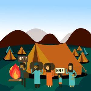 معسكر للاجئين قرب مناطق إنتاج النفط مما يشكل خطر على حياتهم.