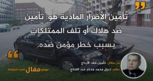 تأمين فقد الأرباح. بقلم: نبيل محمد مختار عبد الفتاح || موقع مقال