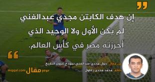 جول مجدي عبدالغني نموذج لتزوير التاريخ. بقلم: محمد مجدى زغلول || موقع مقال