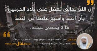 تكالب الأعداء على بلاد الحرمين. بقلم: صالح بن محمد بن صالح السويح    موقع مقال