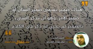 الضمير العجيب|| بقلم: د. جمال يوسف الهميلي|| موقع مقال