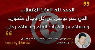 تونس الخضراء انتصرت بالسلم و السلام و الاعتدال|| بقلم: محمد الشابي || موقع مقال