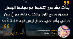على جنبات الطريق|| بقلم: أحمد السلمي|| موقع مقال