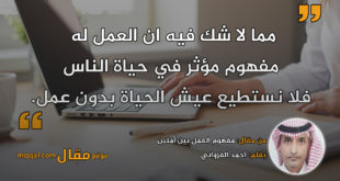 مفهوم العمل بين أمتين|| بقلم: احمد الغزواني|| موقع مقال