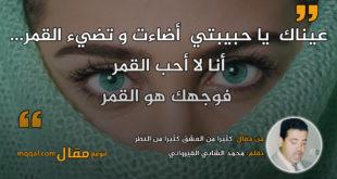 كثيرا من العشق كثيرا من النظر|| بقلم: محمد الشابي القيرواني|| موقع مقال
