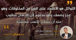 خطة هروب المقال الأول. بقلم: المدرب محمد سلام || موقع مقال
