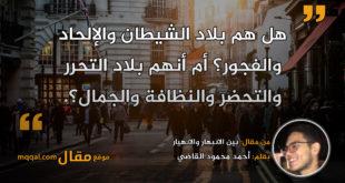 بين الانبهار والانهيار|| بقلم: أحمد محمود القاضي|| موقع مقال