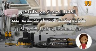 الخلايا الجذعية . بقلم: دكتورة رباب ع. ع. المرجاوي || موقع مقال
