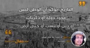 لا عشنا.. ولا عاش الوطن|| بقلم: حمزة بية|| موقع مقال