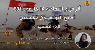 أزمة مفهوم الحرية في المجتمع التونسي المعاصر . بقلم: شيماء الشيخاوي || موقع مقال