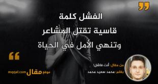 أنت فاشل!|| بقلم: محمد سعيد محمد|| موقع مقال