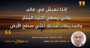 الثروة السمكية.. البحر يُطعم أفواهنا || بقلم: إبراهيم جلال أحمد فضلون|| موقع مقال