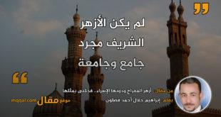 أزهر المعراج ودونها الإسراء.. فجئنى بمثلها|| بقلم: إبراهيم جلال أحمد فضلون|| موقع مقال