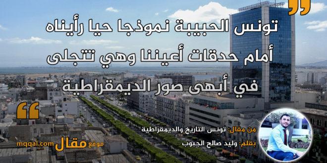 تونس التاريخ والديمقراطية . بقلم: وليد صالح الجبوب || موقع مقال