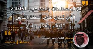 القانون.. يحمي المغفلين . بقلم: عدنان هوساوي || موقع مقال