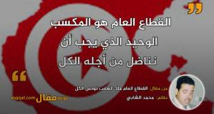 القطاع العام ملك لشعب تونس الكل|| بقلم: محمد الشابي|| موقع مقال