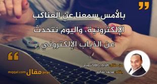 الذباب الإلكتروني . بقلم: محمد شكرى || موقع مقال