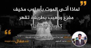 هذا ما أخبرني به الموت، حينما عدت للحياة! بقلم: محمد البعوم || موقع مقال
